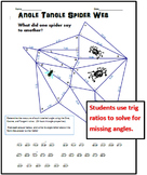 Angle Tangle Spider Web - Solving for Angles with SohCahTo