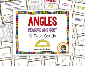Angle Task Cards - Measure and Sort