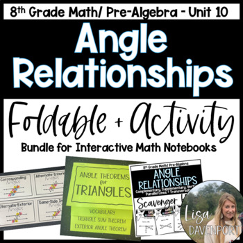 Angle & Triangle Relationships (Pre-Algebra Foldable & Activity Bundle)