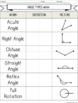 Angle Types- Guided Notes and Worksheet