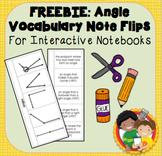 FREE SAMPLE: Interactive Notebook Angle Vocabulary Flips and Quizzes
