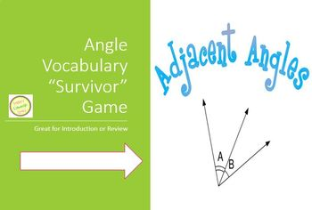 Angle Vocabulary - Survivor Game