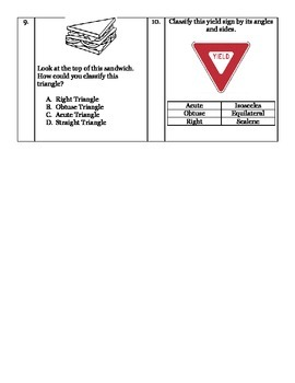 Angle and Triangle Assessment
