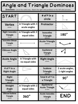 Angle and Triangle Dominoes Game