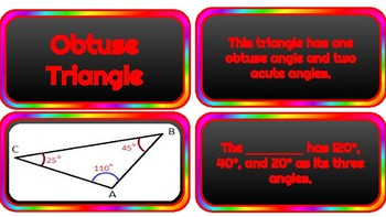 Angle and Triangle Matching Cards