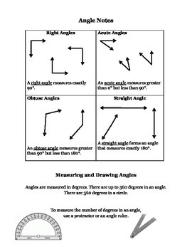 Angle and Triangle Notes
