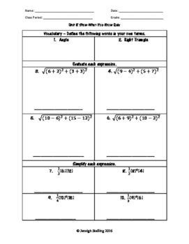 Angle and Triangle Relationships - (8th Grade Math TEKS 8.6C, 8.7C-D, and 8.8D)