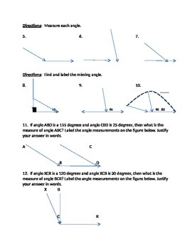 Angle measurement 2