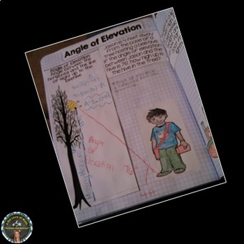 Angle of Elevation and Depression Interactive Notebook Page