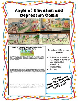 Angle of Elevation and Depression Comic by A JAB at MATH | TpT