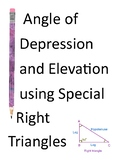 Angle of Elevation and Depression Word Problems using Spec