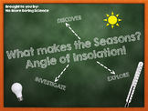 What makes the Seasons? Angle of Insolation!