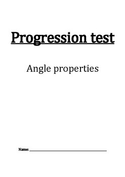 Angle properties progression test/worksheet for IGCSE