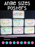 Angle sizes posters