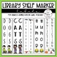 Angled Library Shelf Labels (Fits Demco Angled Shelf Labels w/ Editable Labels)