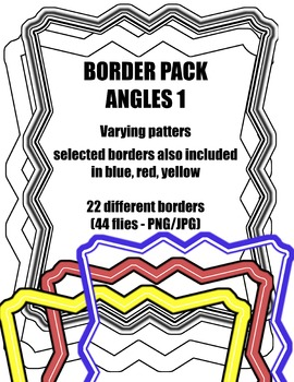 Angles 1: Border / Frame Pack - Digital Clipart [22 different designs]