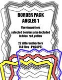 Angles 1: Border / Frame Pack - Digital Clipart [22 differ