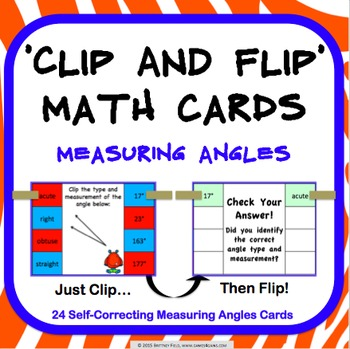 Measuring Angles Task Cards (Clip and Flip)