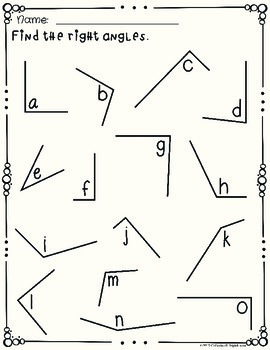 Right Angles Task Cards