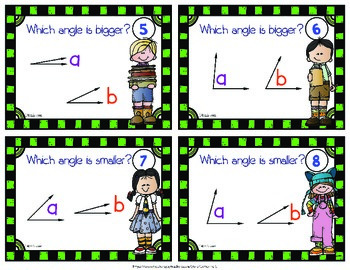 Measuring Angles - Comparing Angles