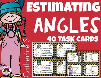 Estimating Angles - Measuring Angles Task Cards