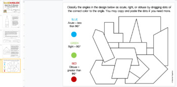 Identify Angles - Acute, Right, and Obtuse