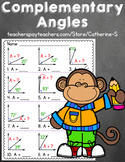 Complementary Angles Worksheets