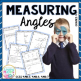 Measuring Angles Worksheets