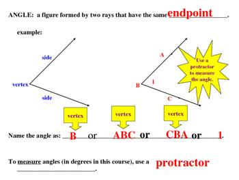 Unit 1, Lesson 3: Angles