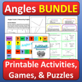 Angles Activities 4th 5th Grade