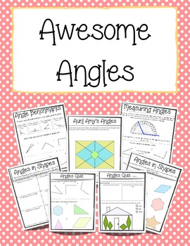 Angles Activity and Handout Packet