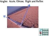 Angles:  Acute, Right, Obtuse, Reflex