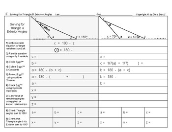 Angles Algebra 06: Solving Triangle & Exterior Angles