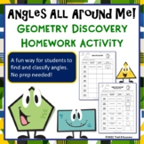 Angles All Around Me - Fun Geometry Homework Discovery Activity