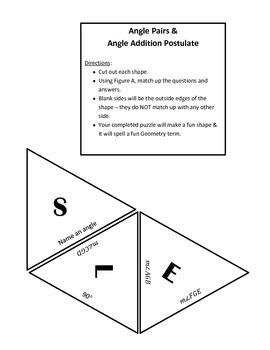 Angles & Angle Pairs