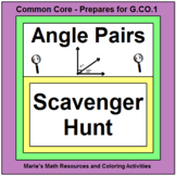 ANGLES: ANGLE PAIRS - SCAVENGER HUNT WITH RIDDLE AND 20 TASK CARDS