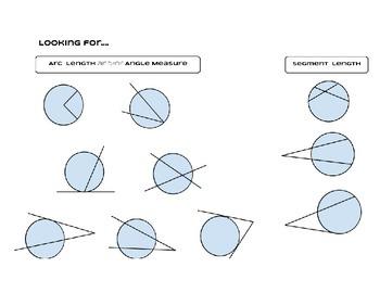Angles Arcs and Segments in Circles