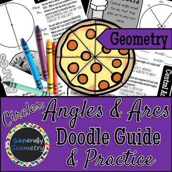 Central Angles And Arcs Teaching Resources Teachers Pay Teachers