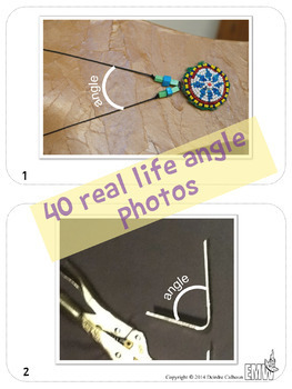 Angles Around Us - Real Life Picture Cards of Angles