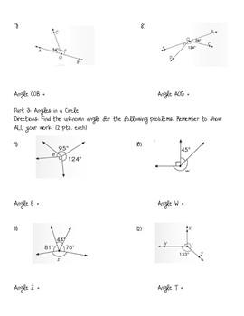 Angles Assessment