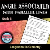 Angles Associated with Parallel Lines Worksheet