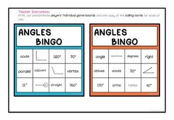 Angles Bingo - Printable Activity for ACMMG141