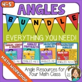 Angles Bundle, Measuring Angles, Using a Protractor, inclu