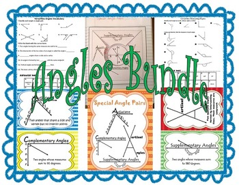 Angles Bundle includes Special Angle Pairs and Reflex Angles SOL 8.6