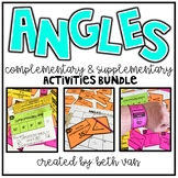 Finding Complementary and Supplementary Angles Task Cards