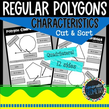 Angles & Characteristics of Polygons Cut & Sort Activity: Geometry, Polygons