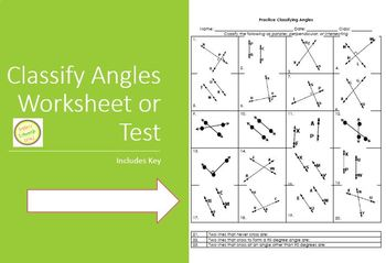 Angles - Classify as Parallel Perpendicular or Inters.-great for differentiated