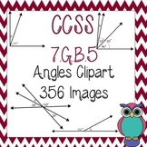 Angles Clipart for 7.G.B.5: Complementary, Supplementary, Adjacent, & Vertical