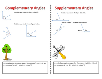 Geometry- Complementary and supplementary angles