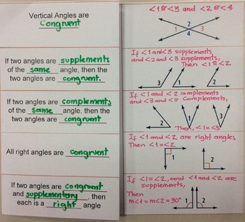 Angles Congruent Theorems